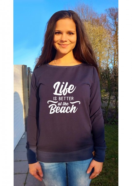 """MAMA-Hoodie """"Life is better at the beach"""""""