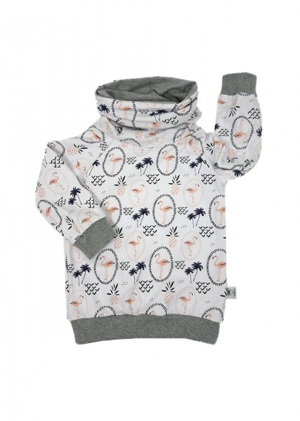 Loop-Pullover Flamingos