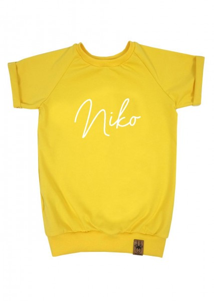 "T-Shirt gelb ""Name"""