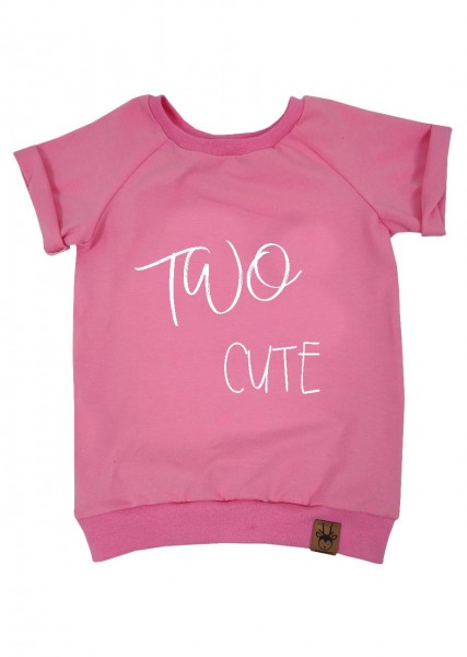 "Geburtstags-T-Shirt rosa ""Two cute"""