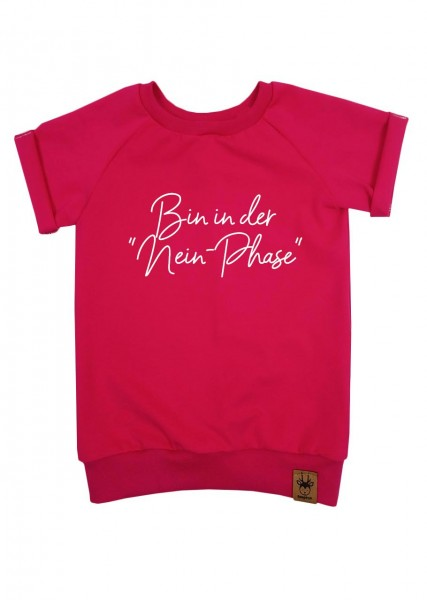 "T-Shirt pink ""Nein-Phase"""
