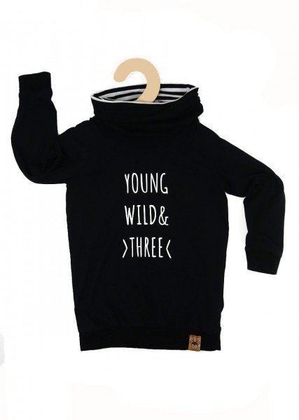 """Geburtstags-Hoodie """"Young, wild and three"""""""